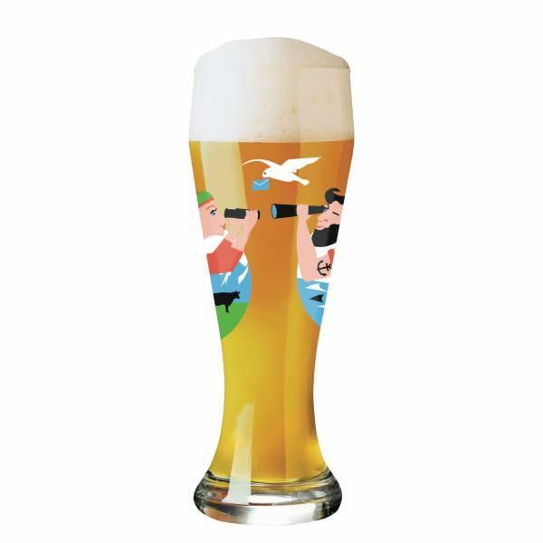 Weizen Wheat beer glass by Iris Kuhlmann