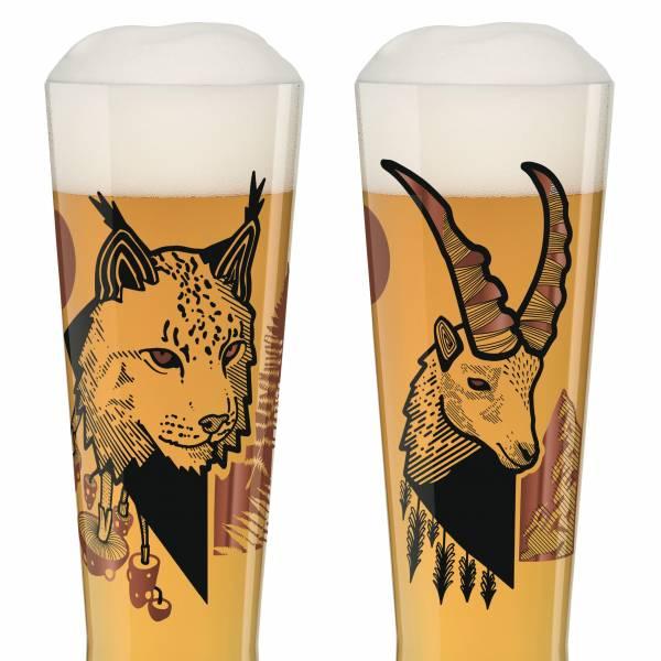 Black Label Weizenbierglas-Set von Daniel Fatemi (Lynx & Chamois)