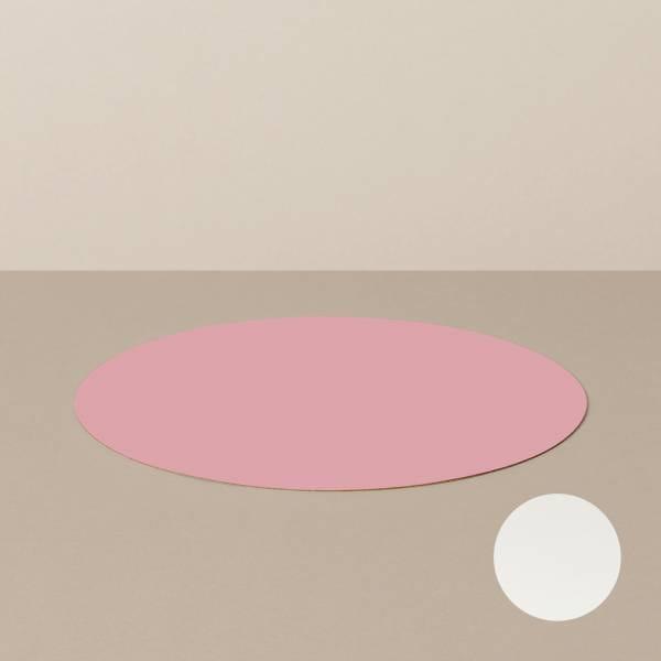 Platzset M, rund, in Weiß/Rosa