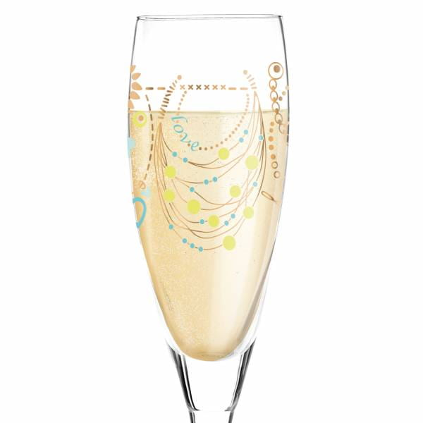 Pearls Edition Prosecco Glass by Michal Shalev
