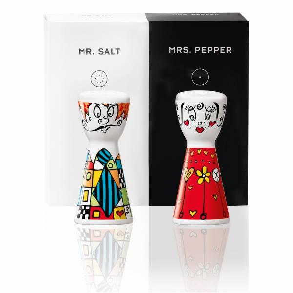 Mr. Salt & Mrs. Pepper Salz- und Pfefferstreuer-Set von Marie Peppercorn