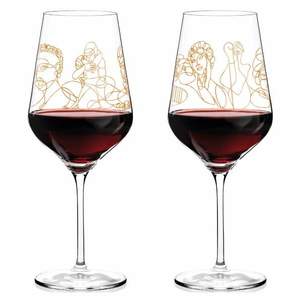 Wein-Ensemble Rotweinglas-Set von Burkhard Neie (Pan & Selene   Zeus & Leda)