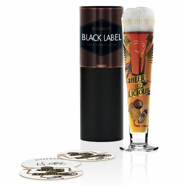 Black Label Bierglas von Werner Bohr