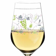 White white wine glass by Sandra Brandhofer