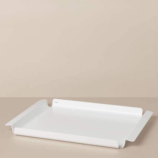 Tablett M in Weiß