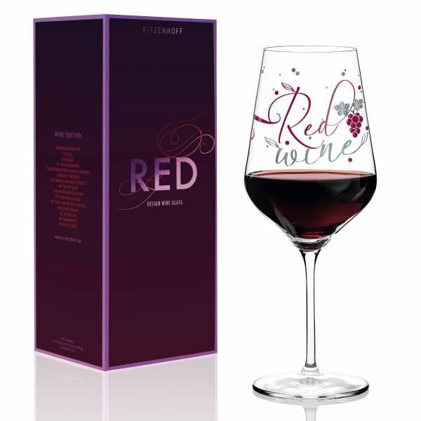 Red Rotweinglas von Kathrin Stockebrand