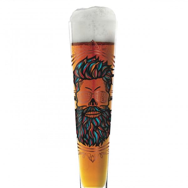 Black Label beer glass by Santiago Sevillano