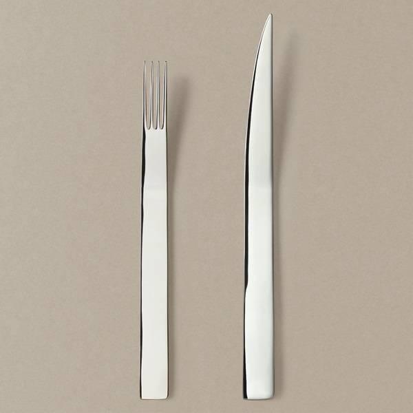 Menu cutlery set knife / fork in silver