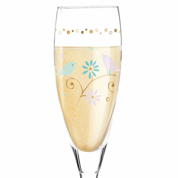 Pearls Edition Prosecco Glass by Flora Waycott