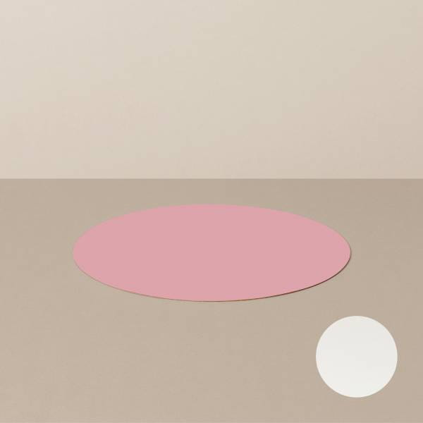Untersetzer S, rund, in Weiß/Rosa