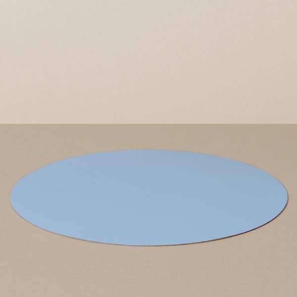 Platzset L, rund, in Hellblau/Jeans