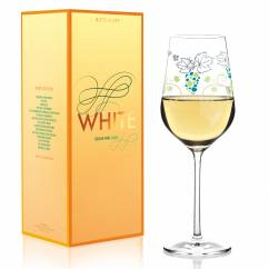 White white wine glass from Shinobu Ito