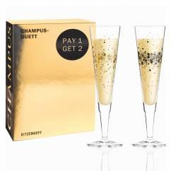 Champus Champagne Glass Set by Ramona Rosenkranz (Day & Night Sparkle)