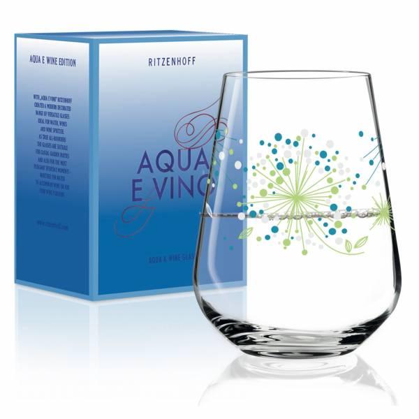 Aqua e Vino water and wine glass by Véronique Jacquart