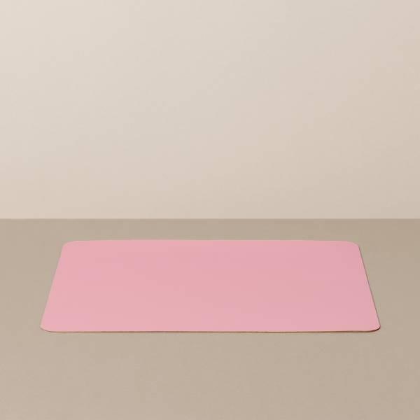 Tabletteinlage/Platzset L, eckig, in Weiß/Rosa