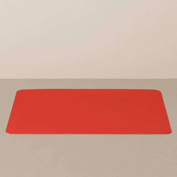 Tray insert / placemat XL, square, in black / red