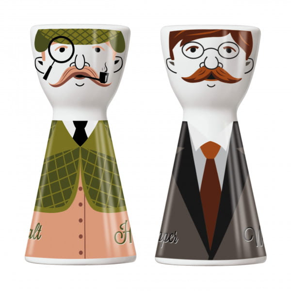 Mr. Salt & Mrs. Pepper salt and pepper set by Santiago Sevillano