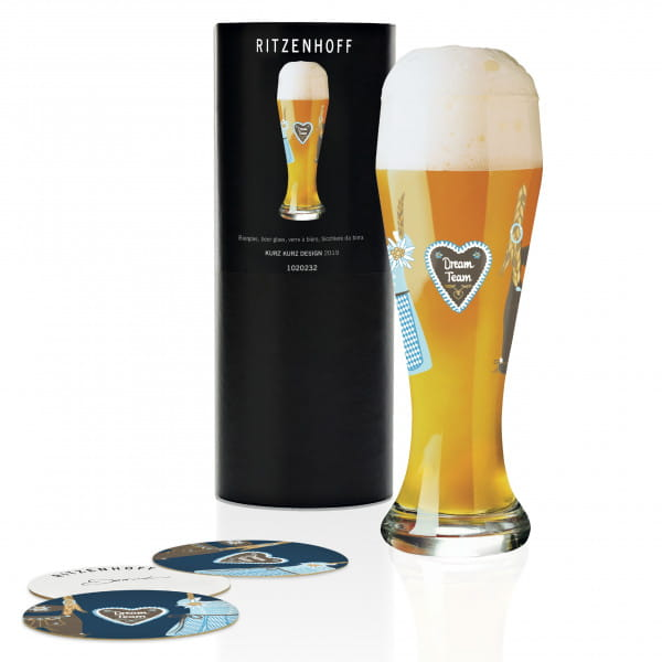 Weizen Wheat beer glass by Kurz Kurz Design
