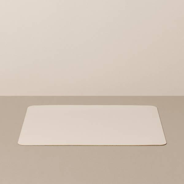 Tray insert / placemat L, square, in sand / stone