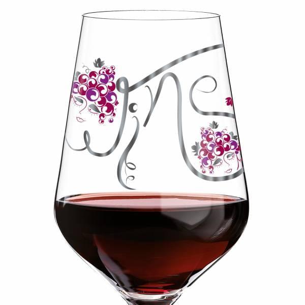 Red red wine glass by Ramona Rosenkranz