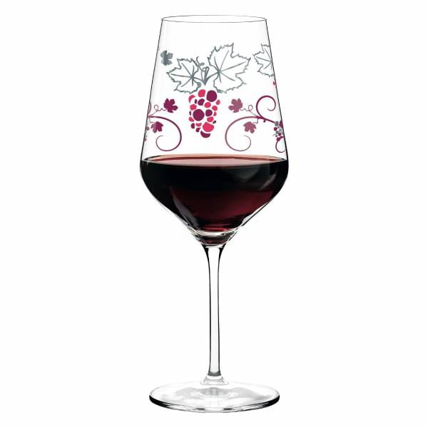 Red Rotweinglas von Shinobu Ito