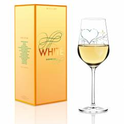 White white wine glass by Kurz Kurz Design