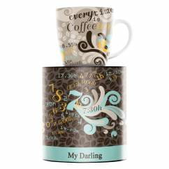 My Darling coffee mug by Claudia Schultes