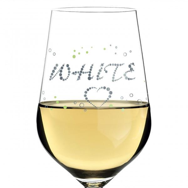 White white wine glass by Sabine Röhse