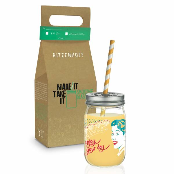 Make It Take It smoothie glass by Andrea Hilles