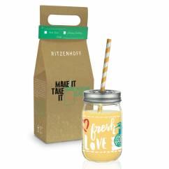 Make It Take It smoothie glass by Virginia Romo