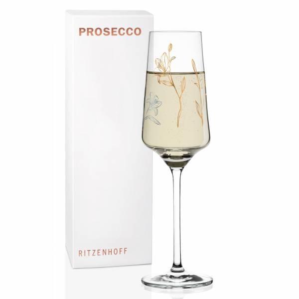 Prosecco Glass by Marvin Benzoni (Fleur de Lis)