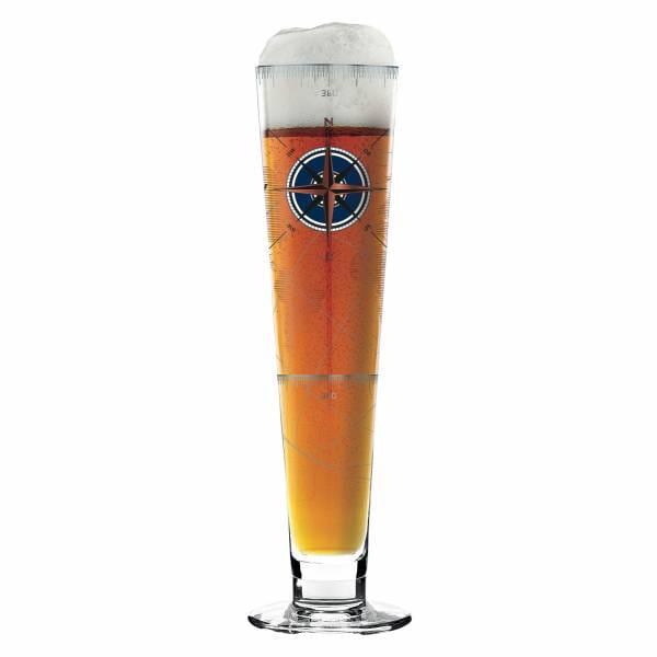 Black Label beer glass by Iris Interthal
