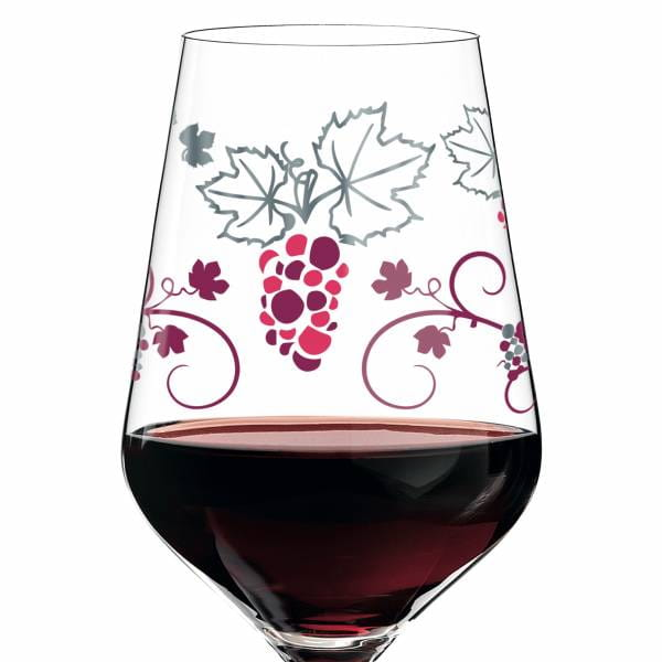 Red red wine glass from Shinobu Ito