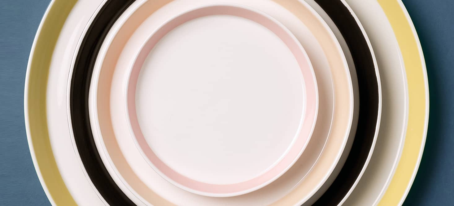 Dinner plate: Also as a lid for the bowls