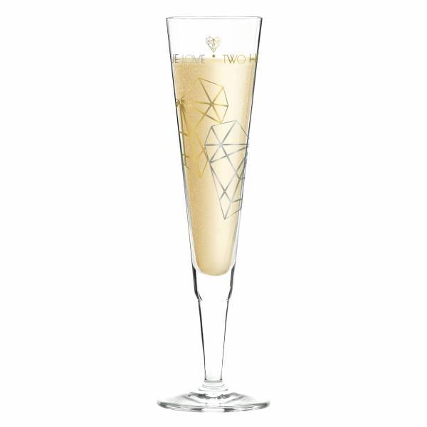 Champus Champagnerglas von Angela Schiewer