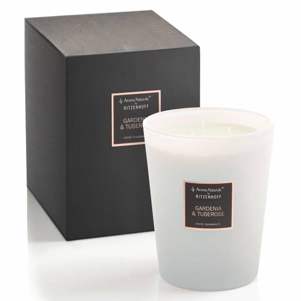 Selection scented candle 3-wick, gardenia & tuberose
