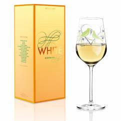 White white wine glass by Anissa Mendil