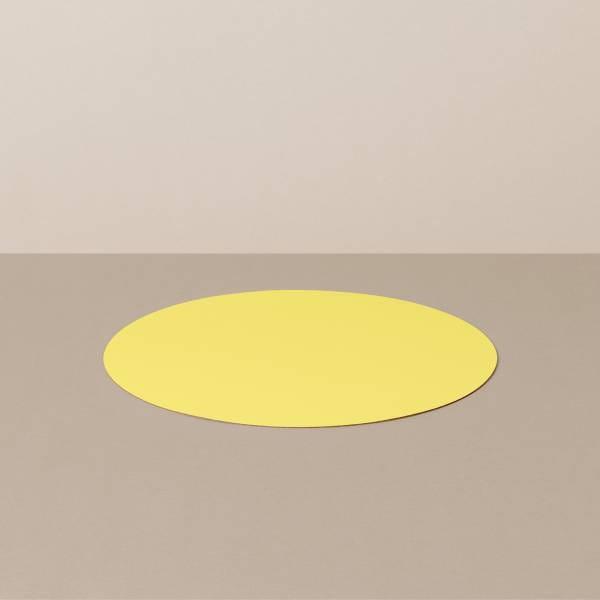 Coaster S, round, in black / yellow
