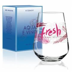 Aqua e Vino water and wine glass from Virginia Romo