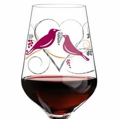 Red wine glass by Anissa Mendil