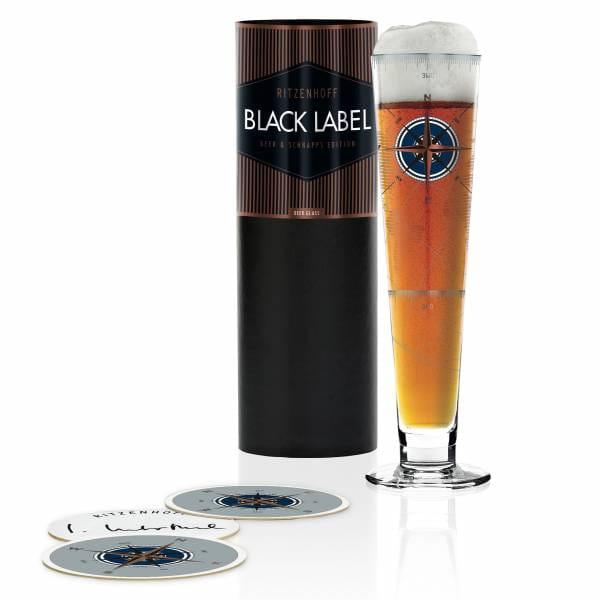 Black Label Bierglas von Iris Interthal