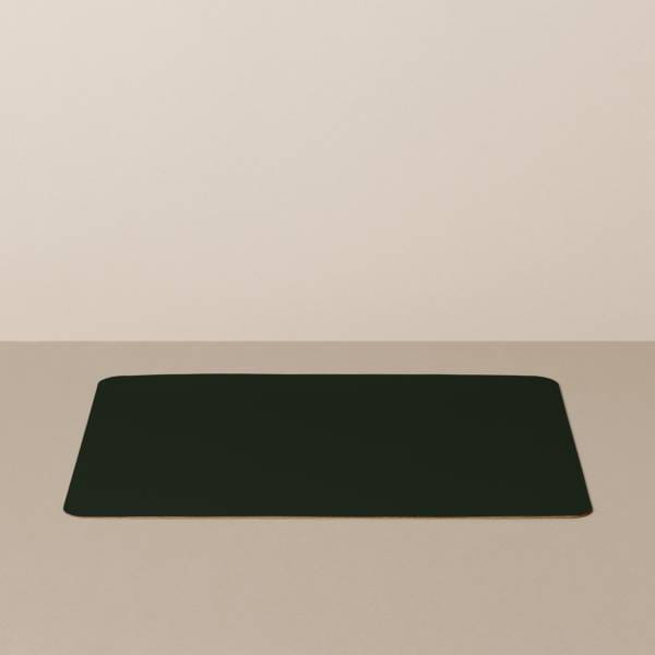 Tray insert / placemat L, square, in black / red