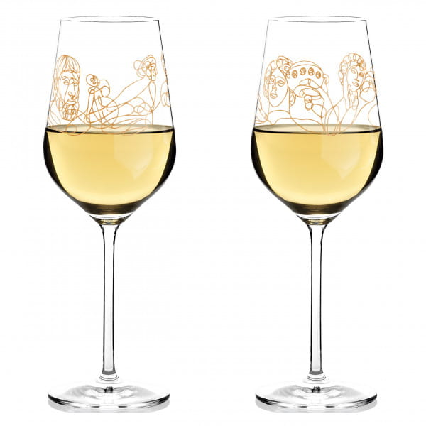 Wine Ensemble White Wine Glass Set by Burkhard Neie (Dionysos & Ariadne | Zeus & Leto)