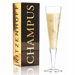 Champus Champagne Glass by Lenka Kühnertová (Golden Fans)