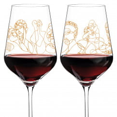 Wine Ensemble Red Wine Glass Set by Burkhard Neie (Pan & Selene | Zeus & Leda)