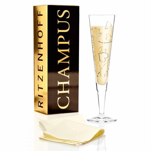 Champus Champagnerglas von Shinobu Ito