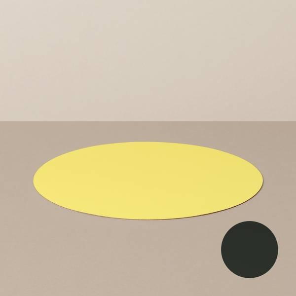 Platzset M, rund, in Schwarz/Gelb