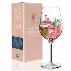 Aperitivo Rosato Aperitif Glass by Dominique Tage