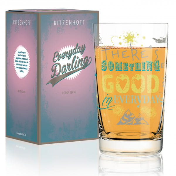 Everyday Darling soft drink glass by Petra Mohr (Something Good)
