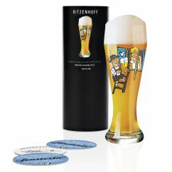 Weizen wheat beer glass by Martina Schlenke